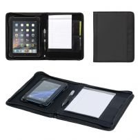 Black Conference Folder Tablet Holder & A5 Notepad